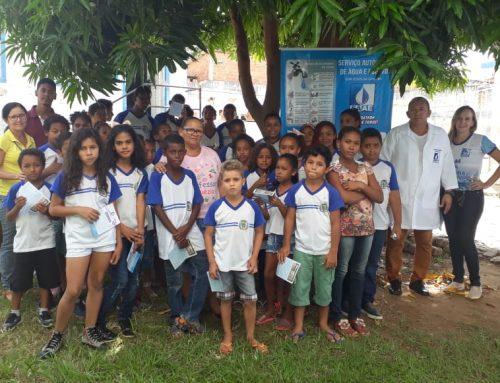 SAAE de Bom Jesus da Lapa recebe alunos da Escola Municipal Profª Zelia Nascimento no Dia Internacional da água.